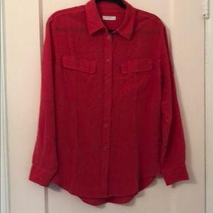 Used Equipment silk long sleeve button down shirt
